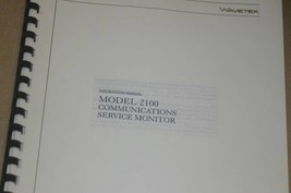 Wavetek 2100 Communications Service monitor Instruction Users Manual - $25.43