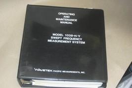 Wavetek 1038-H/V Frequency Measurement Operating Maintenance Manual 1038-D14A - $121.47