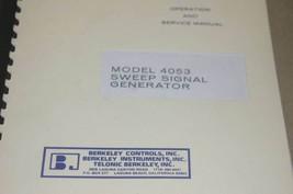 Beckman Berkley 4053 Sweep signal Generator Instruction Operating Manual - $25.43
