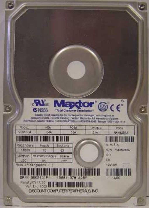 MAXTOR 90913D4 9.1GB 3.5IN IDE Drive Tested Good Free USA Shipping