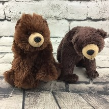 "Wildlife Artists Bear Plush Lot Of 2 Brown Grizzly Shaggy Stuffed 6"" Nat... - $14.84"