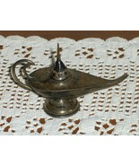Vintage Taxco Hecho En Mexico Aladdins Oil Lamp Sterling 925 Funnel Plat... - $149.00
