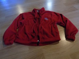 Youth XS 5-6 Elderado Micro Fleece Solid Red Zip Up Jacket MA Monogram M... - $14.00