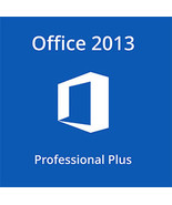 Microsoft Office 2013 Professional Plus 32/64 Bit Key With Download - $9.50