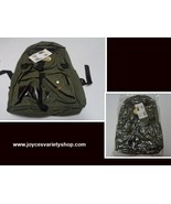 """Canvas Backpack Army Green 16"""" x 12"""" Front Compartments School Travel Gear - $10.99"""