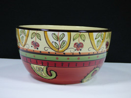 "SET(S) FOF 4 - TABLETOPS UNLIMITED ESPANA PAISLEY 6"" SOUP/CEREAL BOWLS -... - $58.80"