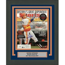 FRAMED Autographed GEORGE SPRINGER 2014 Sports Illustrated Magazine Beck... - $499.99
