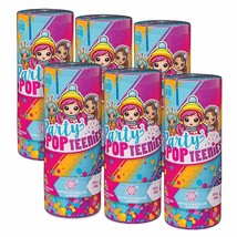 New Party Popteenies Lot of 6 Mystery Party Surprise Popper Figures  Par... - $10.69