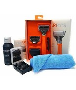 Harry's Razor Handle (Orange) Replacement Cartridges Post Shave Balm and... - $46.94