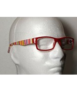 Fruit Stripes Fashion Reading Glasses Red Candy Stripe Temple Unisex +1.... - $9.79