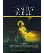 FAMILY BIBLE  The Family Heirloom Bible Large leather w/ family history ... - $29.69