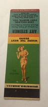 Vintage Matchbook Cover Matchcover Girlie Pinup Art Steiner Collector TX - $3.56