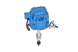 SBF Ford Small Block 260 289 302 HEI Ignition Blue Cap Distributor w/ 65K Coil image 1