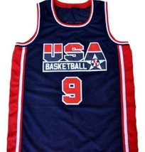 Michael Jordan #9 Team USA Basketball Jersey Navy Blue Any Size image 4