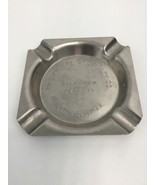 Metal Cigarette Ashtray Square 4 Slots The Metal Specialty Co Richmond D... - $19.59