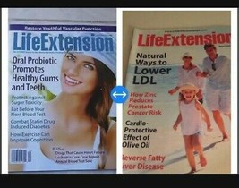 set of 2 life extension magazines back issue may 2015 & may 2017 - $14.99