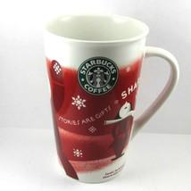 STARBUCKS COFFEE COMPANY 2010 16 oz Tall Ceramic Coffee Mug New Bone China - $28.63