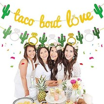 JeVenis Set of 2 Taco Bout Love Banner Taco Party Decoration Taco Banner... - $14.65