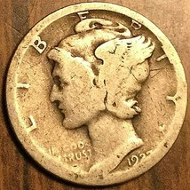 1927 UNITED STATES 10 CENTS MERCURY DIME COIN - $5.29