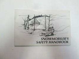 1993-1995 Snowmobilers Safety Handbook Manual FACTORY OEM BOOK 93 94 95 - $19.79