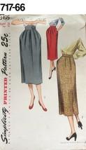 VTG Sewing Pattern Simplicity #3495 Size Waist 26 Hip 35 Skirt 1951 UNUSED - $23.61
