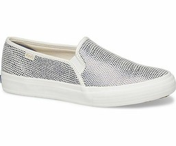 Keds Womens Double Decker Dalmata Leather Slip-On Sneakers Blue - $48.75