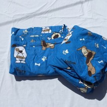"""Blue with Dogs Twin Duvet Cover and Fitted Sheet Company Store 84"""" x 51"""" - $48.37"""