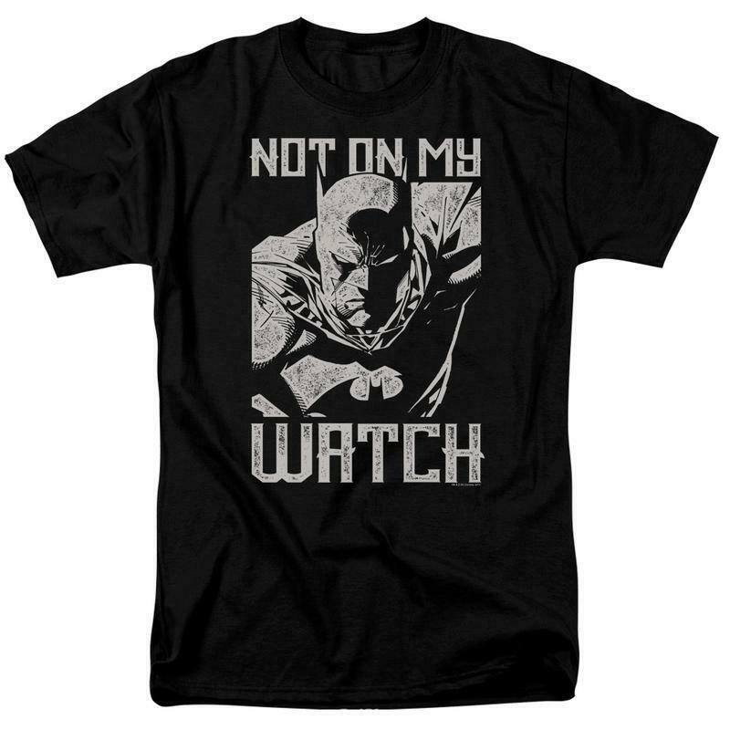 Batman t-shirt DC Comics superhero Not on my Watch graphic tee BM2866