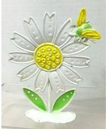 1960's Daisy & Bumble Bee Earring Tree Stand 5 1/2 Inches Tall T45 - $22.28