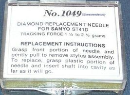 No.1049 STYLUS NEEDLE for SANYO FISHER ST41D ST-41D C8-8800 CG8800 714-D7  image 4