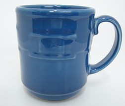 Longaberger Pottery Woven Traditions Cornflower Blue Mug 12 oz Made in USA - $12.86