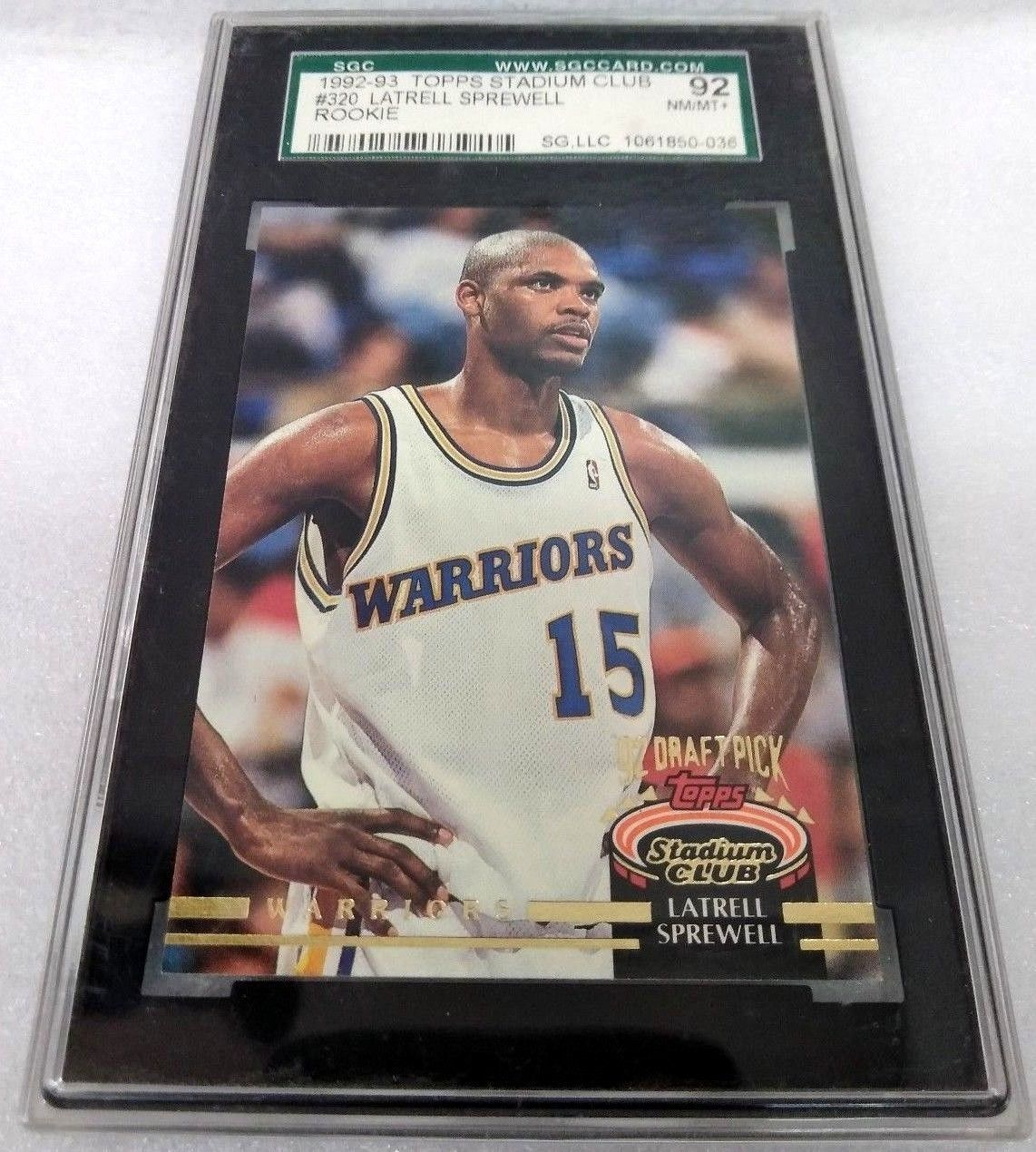 Latrell Sprewell 1992-93 Topps Stadium Club Rookie Card