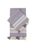 Bath mat hand towel set  / Purple Lilac natural organic cotton/ Bathroom... - $45.00