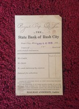Set of 4: Bank of Rush City Bank Deposit Cards/Mailing Cards (1913) image 4