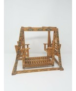 Vintage doll furniture wood double glider swing - $79.20