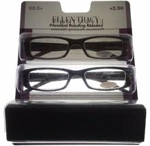 Ellen Tracy Womens Readers 2 Pack Rectangle Black & Brown Plastic ET3045... - $22.49