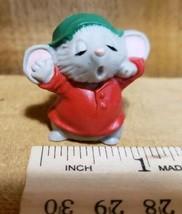 "Vintage 1983 Hallmark Merry Miniature Christmas Sleepy Mouse Collectible 1"" - $22.76"