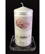"Naming Ceremony  Photo Gift Keepsake Large Photo 6"" inch Candle - $21.77"