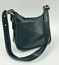 Vintage Coach Legacy Black Leather Shoulder Crossbody Handbag  Silver - $98.99