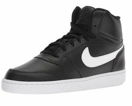 Nike Men's Ebernon Mid Casual Sneakers Black/White AQ1773-002 - $85.99