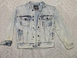 Vintage Tomorrows Generation Child's Jean Jacket Size Small Acid Wash 8/... - $26.73