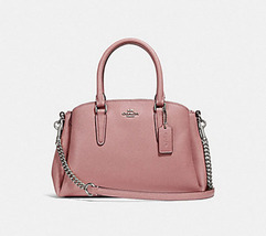 COACH F28977 MINI SAGE CARRYALL Satchel messenger Handbag purse pink NWT - £98.50 GBP