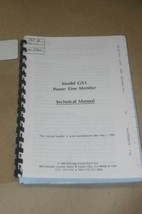 BMI GS-1 GS1 Powe Line Monitor  Instruction Operating Guide Technical Manual - $25.00