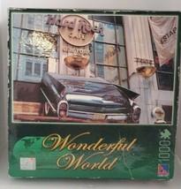 Sure-Lox Wonderful World Hard Rock Cafe, NY 1000 Piece Jigsaw Puzzle NEW... - $9.49