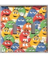 Double Light Switchplate Handmade - M&M'S® Crowd Pap - $8.75