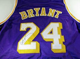 KOBE BRYANT / NBA HALL OF FAME / AUTOGRAPHED LAKERS PURPLE CUSTOM JERSEY / COA image 1