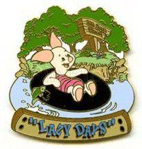 Disney - Winnie Pooh   - Piglet floating on an inner tube pin/pins - $35.00