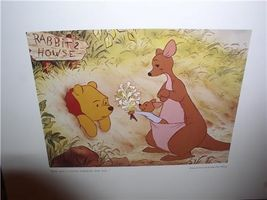 Disney Winnie the Pooh and  Kanga at Rabbits House Lithograph - $19.34