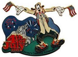 Disneyland DCA 4th of July Goofy waving flags pin/pins - $39.99