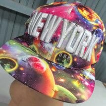 New York Bright Crazy Color Solar System Snapback Baseball Cap Hat - $15.59